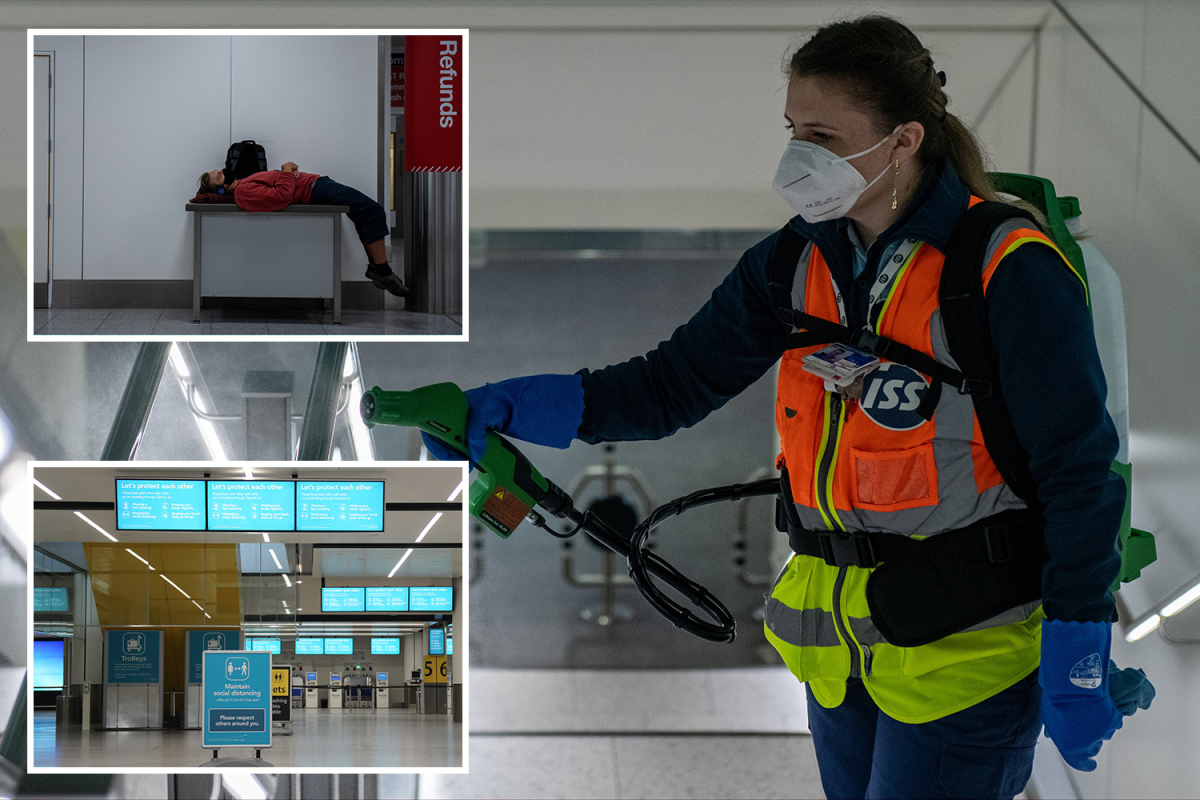 From compulsory masks to disinfectant spray squads, the 'new normal' at Gatwick Airport