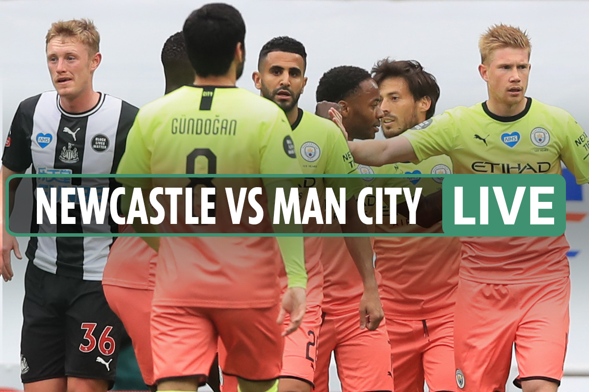 Newcastle 0-2 Man City LIVE SCORE: De Bruyne and Sterling put City on course for Arsenal FA Cup semi-final