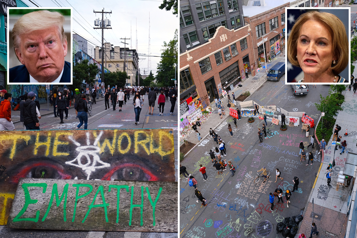 Seattle mayor Jenny Durkan says 'Capitol Hill Autonomous Zone' is 'patriotic' and slams Trump's 'illegal' warning