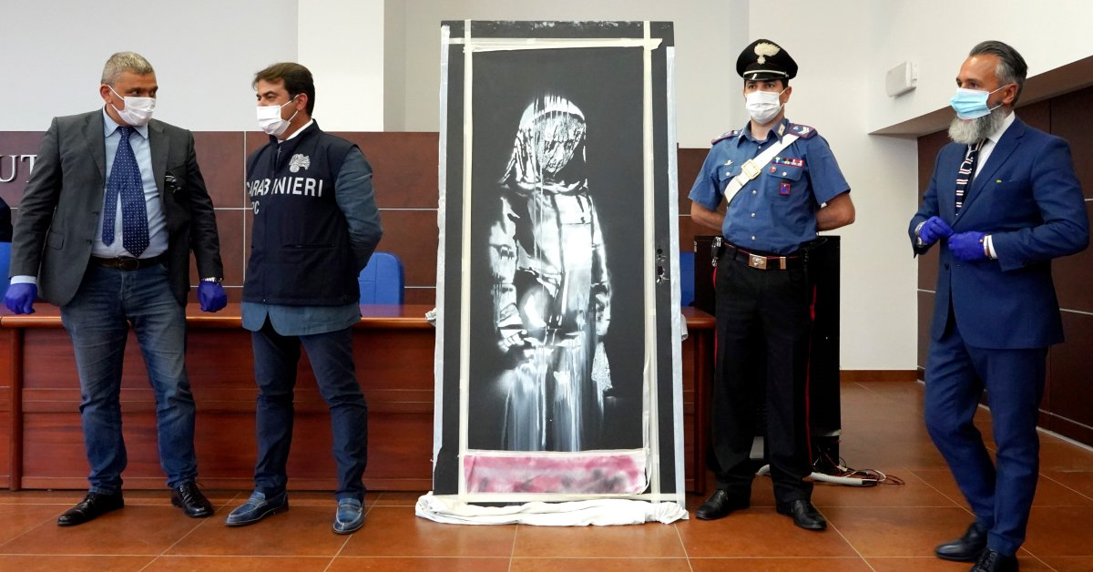Stolen Banksy Artwork Honoring Bataclan Victims in Paris Found in Italy