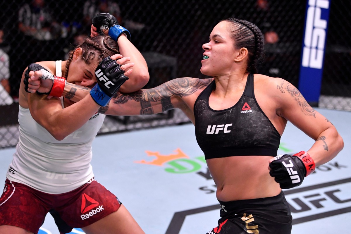UFC 250 result: Amanda Nunes leaves Felicia Spencer with huge haematoma to make history as first-ever mother-champion