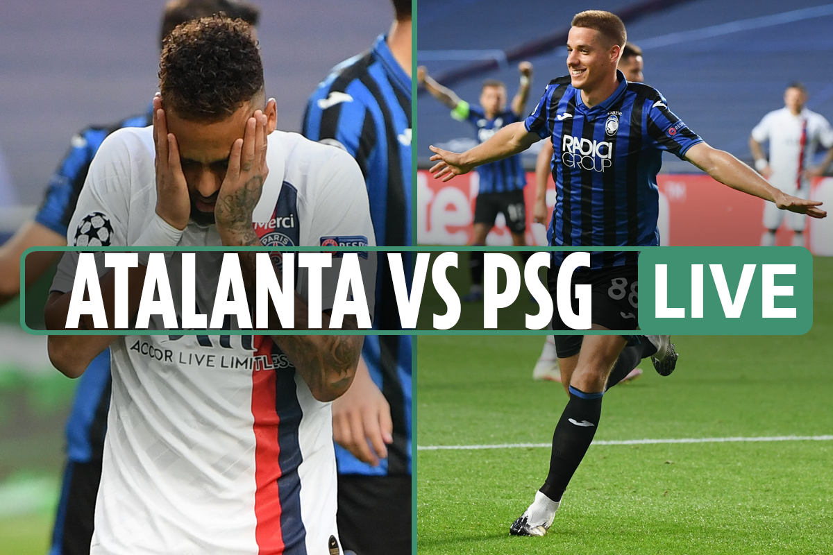 Atalanta vs PSG LIVE SCORE: Stream free and TV channel – Pasalic gives underdogs shock lead after Neymar misses sitter