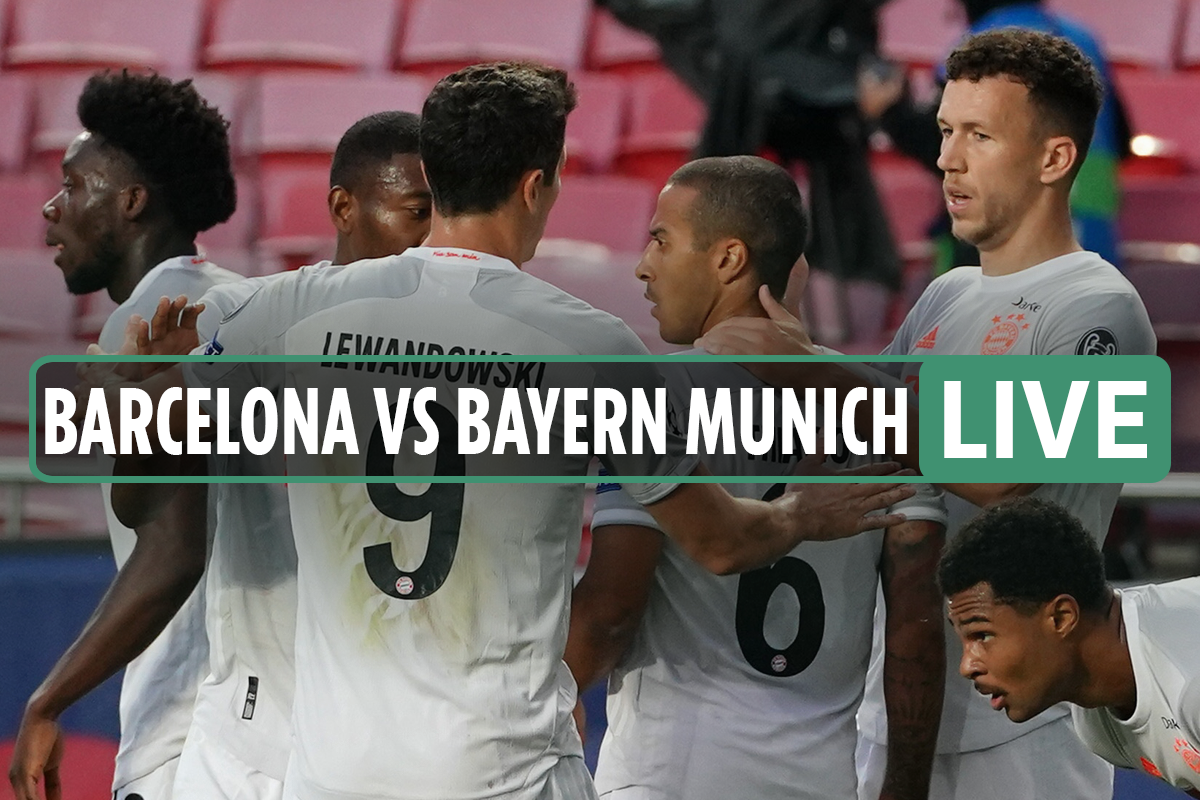 Barcelona 2-5 Bayern Munich LIVE: Stream FREE, TV channel, kick-off time, team news for TONIGHT'S Champions League tie