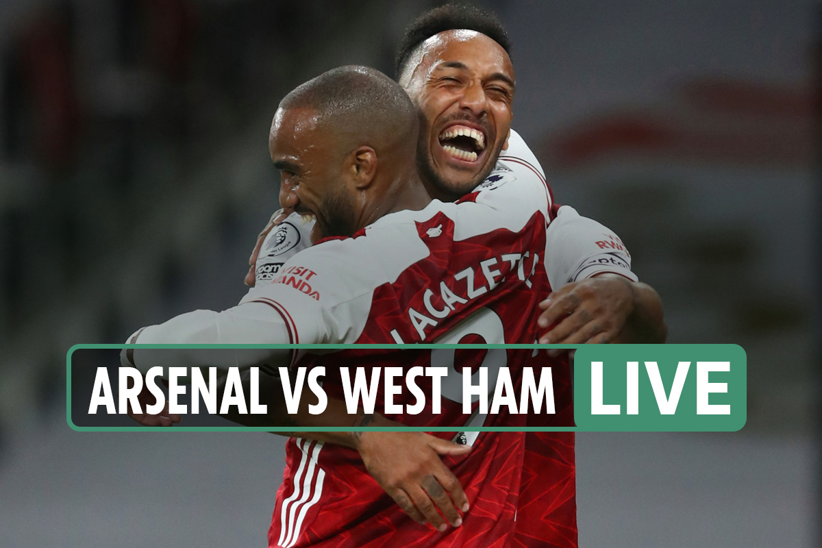 Arsenal vs West Ham LIVE: Stream, score, TV channel – Antonio levels it up right on half-time after Lacazette opener