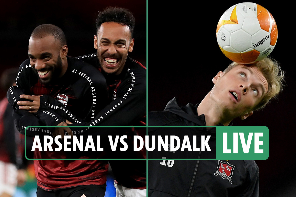 Arsenal vs Dundalk LIVE: Stream free, TV channel, score, teams – Runarsson makes Gunners debut in Europa League