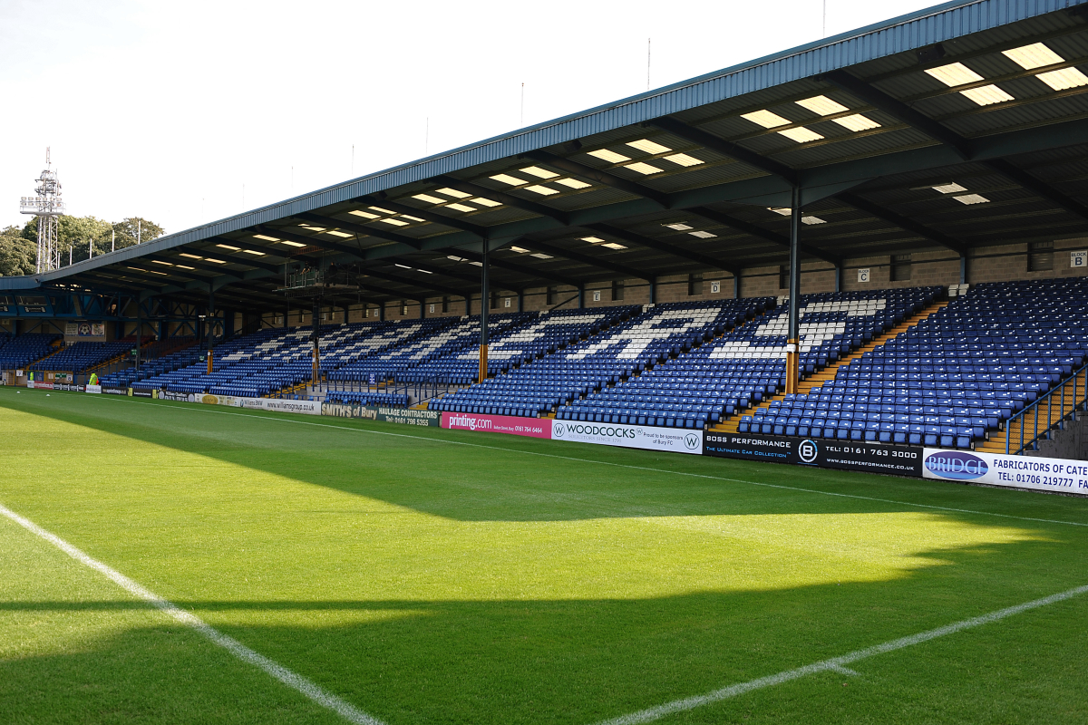 Bury hoping to host matches at Gigg Lane in New Year as they plan fundraisers ahead of bid to join National League
