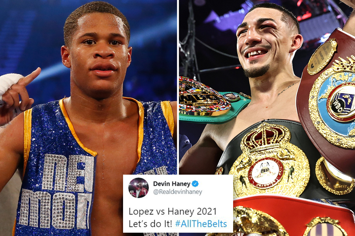 Teofimo Lopez calls out Devin Haney after stunning Vasiliy Lomachenko victory and rival accepts fight on Twitter