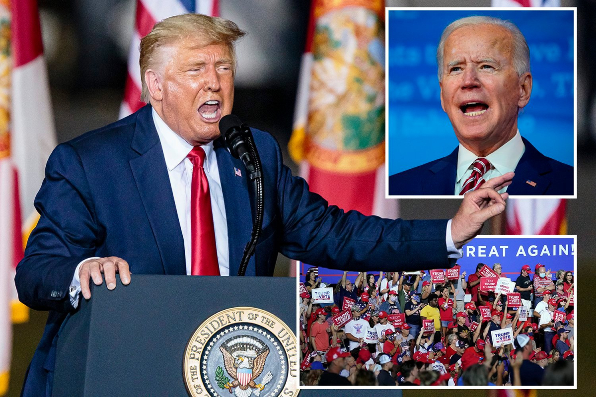 Trump says as 'corrupt' Biden 'works to enrich himself, I work for the American people' in fierce Florida rally attack