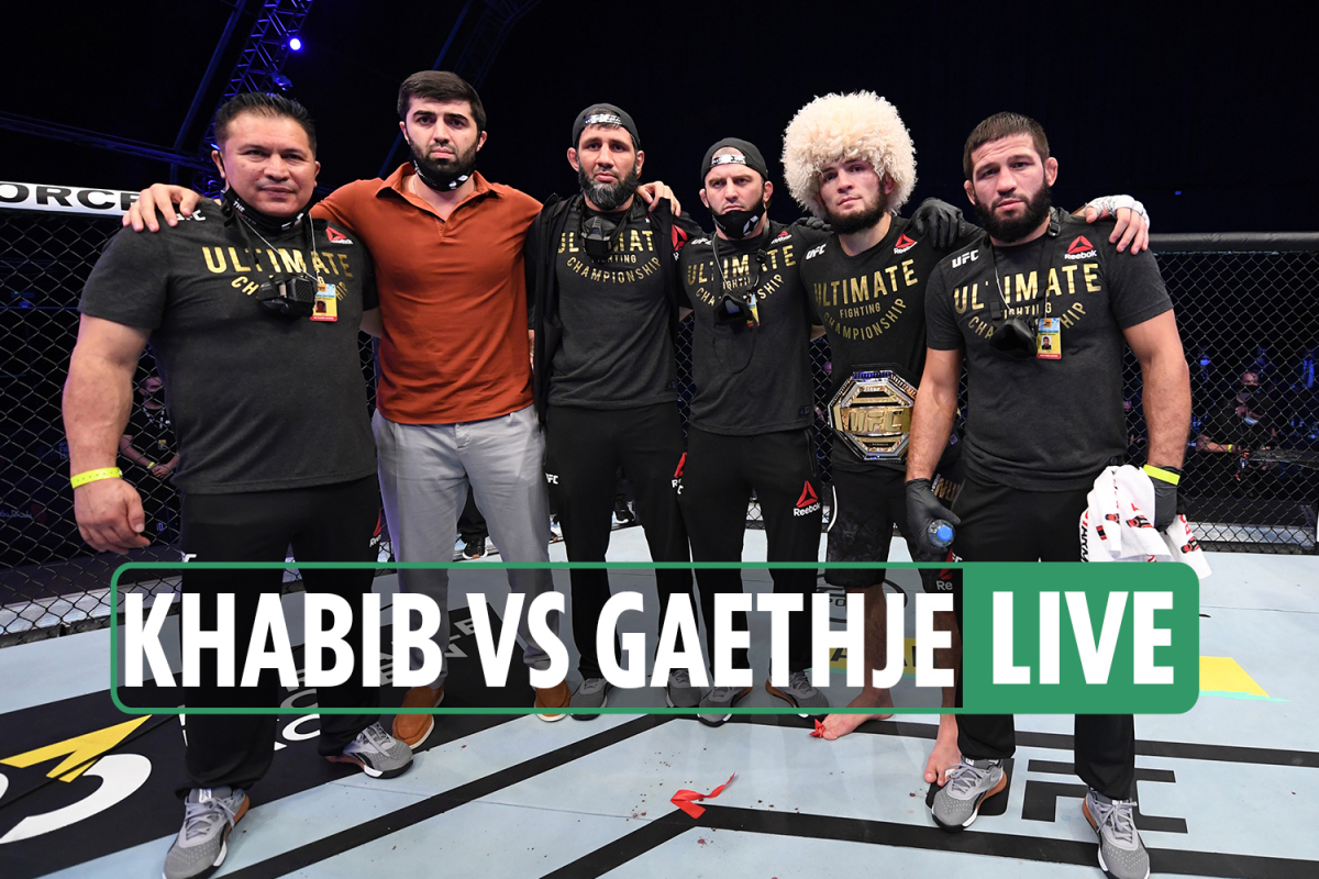 UFC 254 LIVE REACTION: Khabib RETIRES after win, McGregor speaks, star 'BROKE foot and toes' WEEKS ago says Dana White