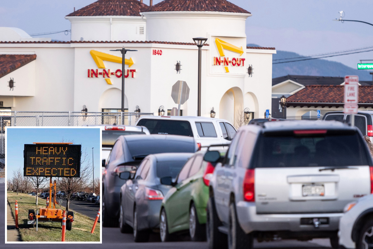 Colorado's first-ever In-N-Out sees 14-HOUR LINES as police encourage customers to eat elsewhere