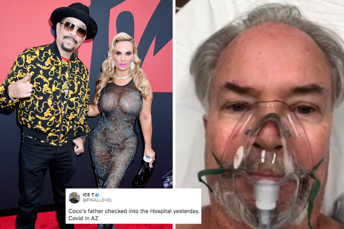 Ice-T says father-in-law is 'on oxygen indefinitely' and 'close to death' after 40 days in ICU with Covid-19