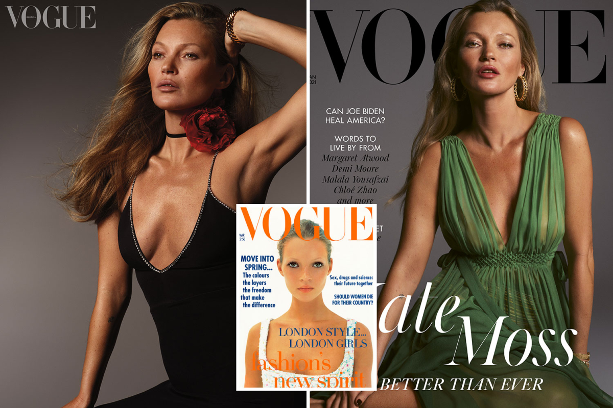 Kate Moss proves she's still got it as she poses for 41st Vogue cover — 27 years after her first