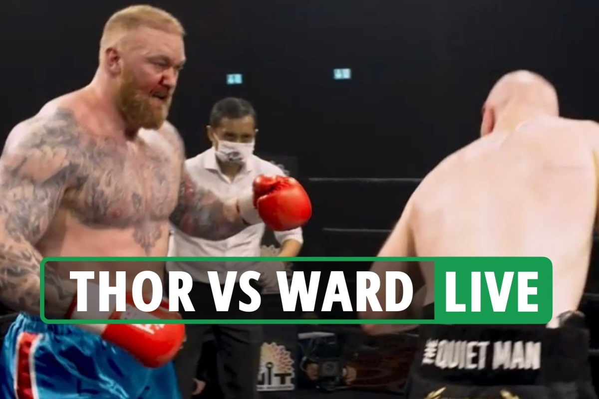Thor Bjornsson vs Steven Ward LIVE RESULT: Thor bleeding from nose as Ward DROPPED in second round – latest reaction
