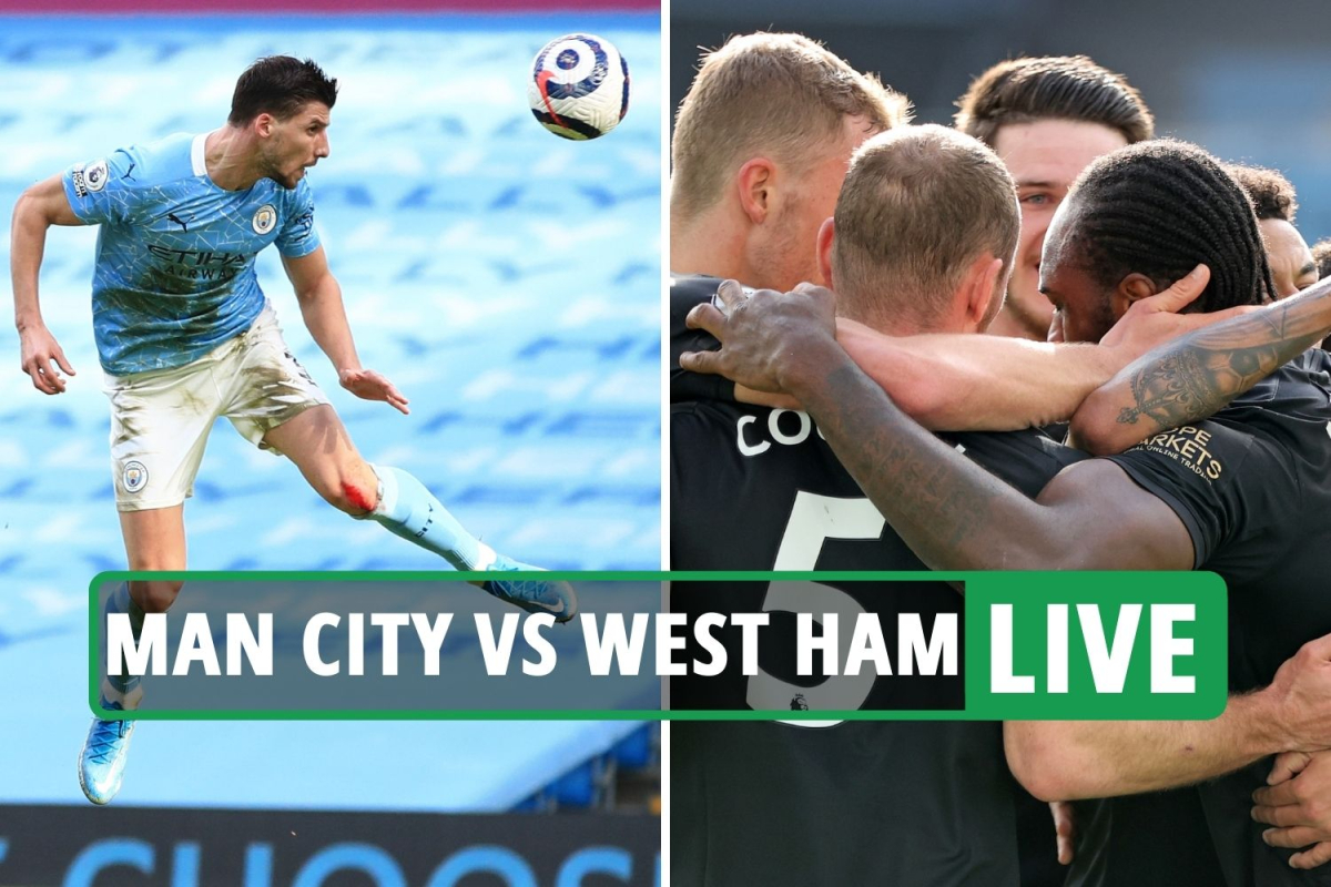 Man City vs West Ham LIVE: Stream FREE, TV channel as Stones puts City back in front – latest Premier League updates